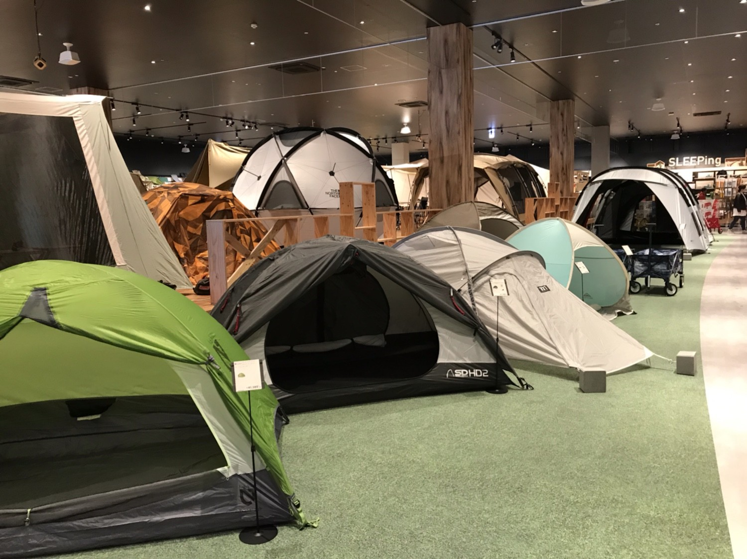 Alpen Outdoors solo tent space